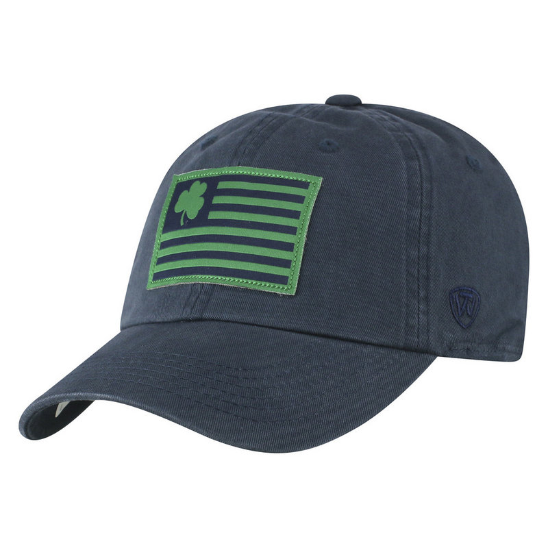Notre Dame Fighting Irish Hat Navy Flag CREWP_NTRDM_ADJ_TMC