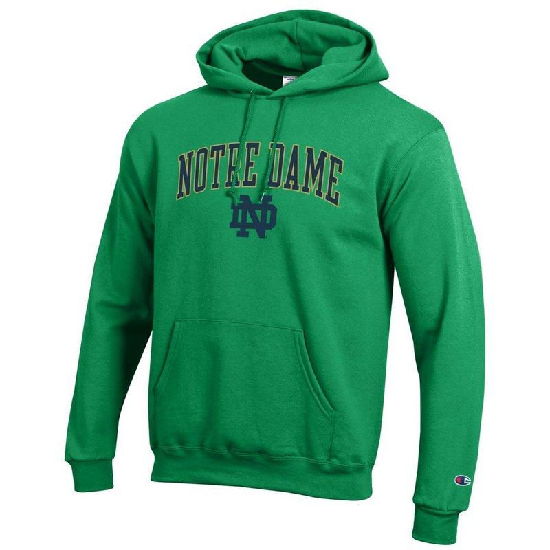 Notre Dame Fighting Irish Hoodie Sweatshirt Arch Kelly Green APC02824663
