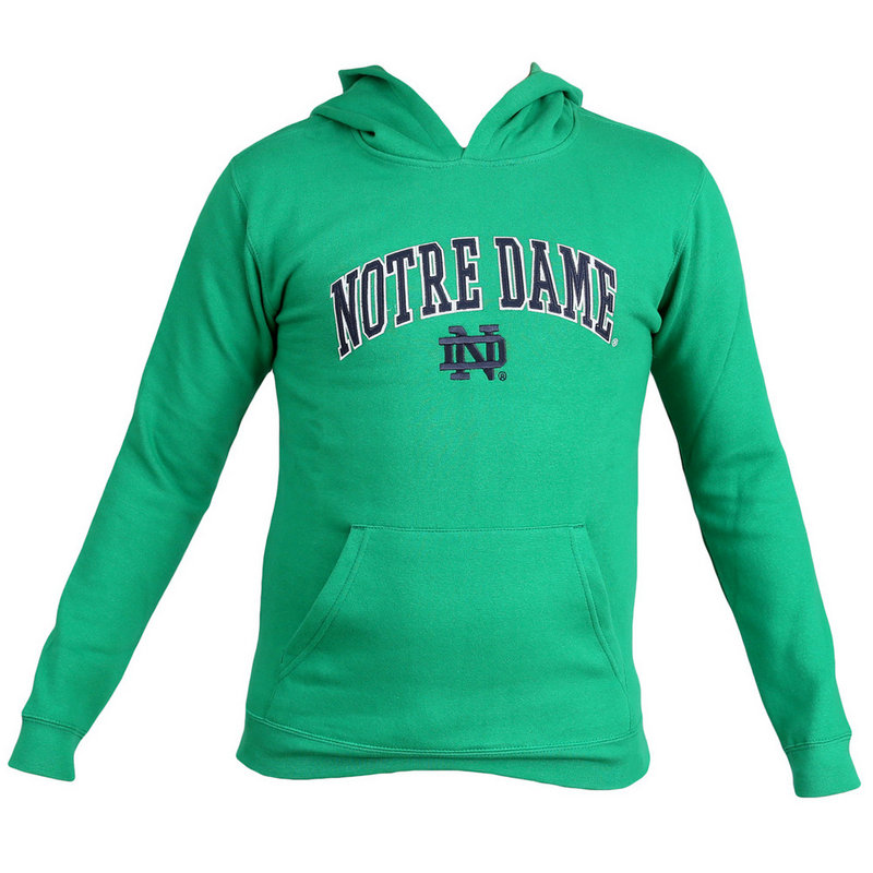 Notre Dame Fighting Irish Hoodie Sweatshirt Green