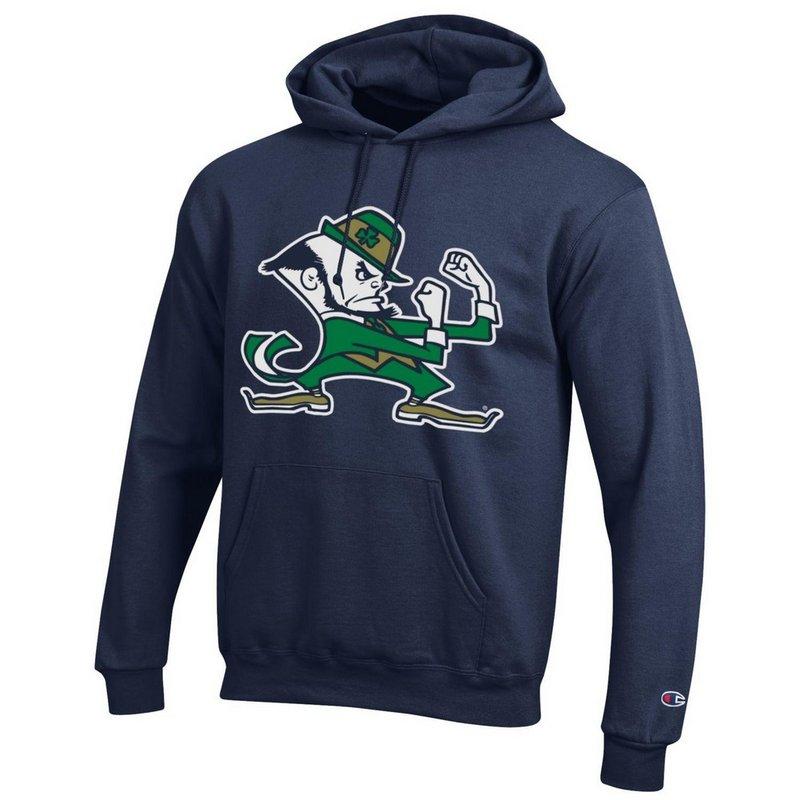 Notre Dame Fighting Irish Hoodie Sweatshirt Leprechaun Navy APC02824661