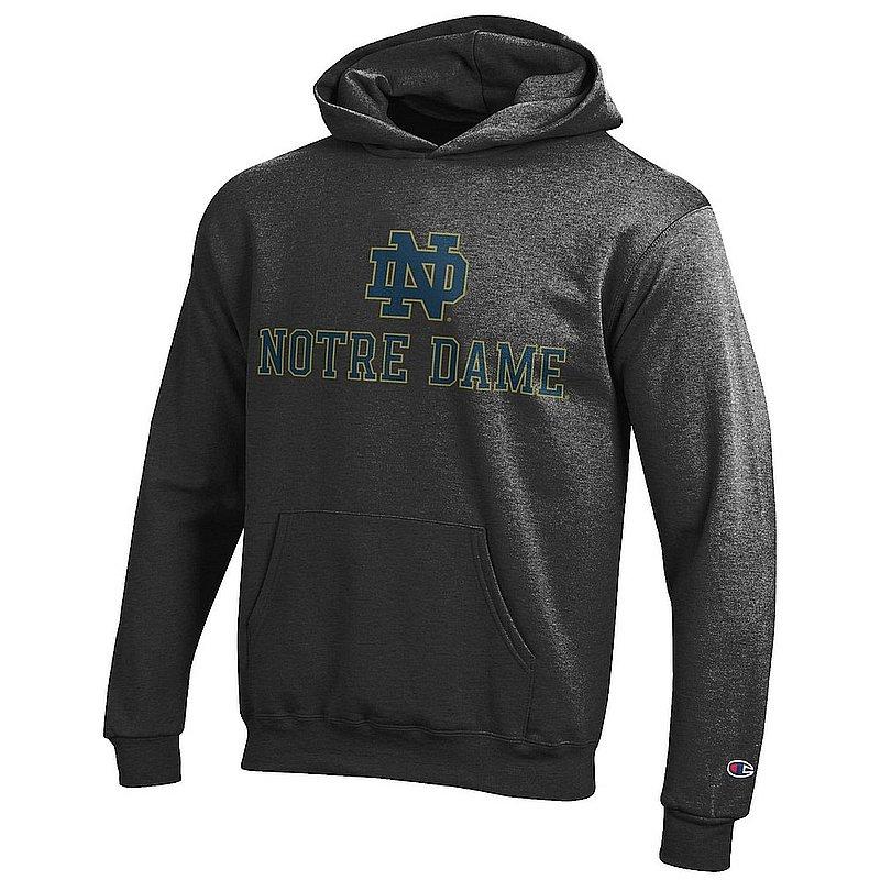 Notre Dame Fighting Irish Kids Hoodie Sweatshirt Charcoal APC03014087