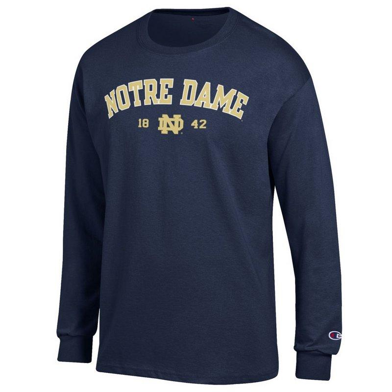 Notre Dame Fighting Irish Long Sleeve Shirt Navy 1842 ND-55