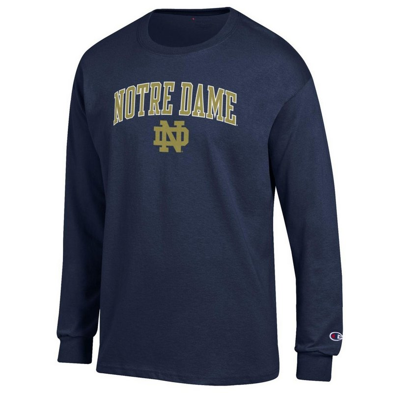 Notre Dame Fighting Irish Long Sleeve Tshirt Arch Navy APC02824663