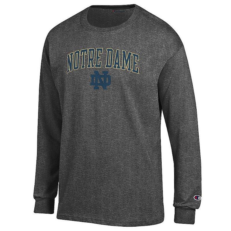 Notre Dame Fighting Irish Long Sleeve Tshirt Charcoal APC02824663