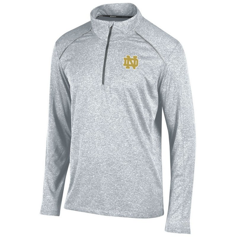 Notre Dame Fighting Irish Quarter Zip Shirt Gray APC02770988