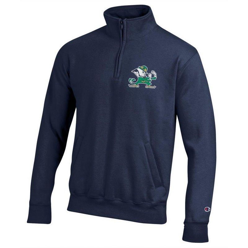 Notre Dame Fighting Irish Quarter Zip Sweatshirt Captain Navy APC03201030