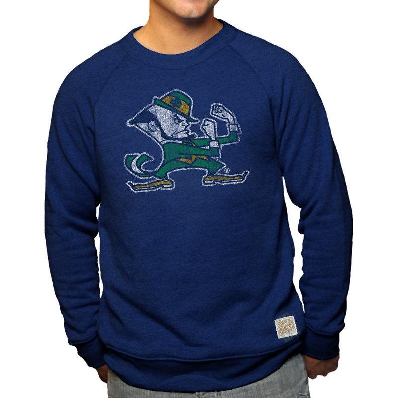 Notre Dame Fighting Irish Retro TriBlend Crewneck Sweatshirt Navy NOT005S2A
