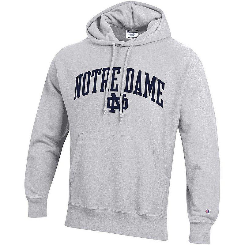Notre Dame Fighting Irish Reverse Weave Hoodie Sweatshirt Gray APC03006026