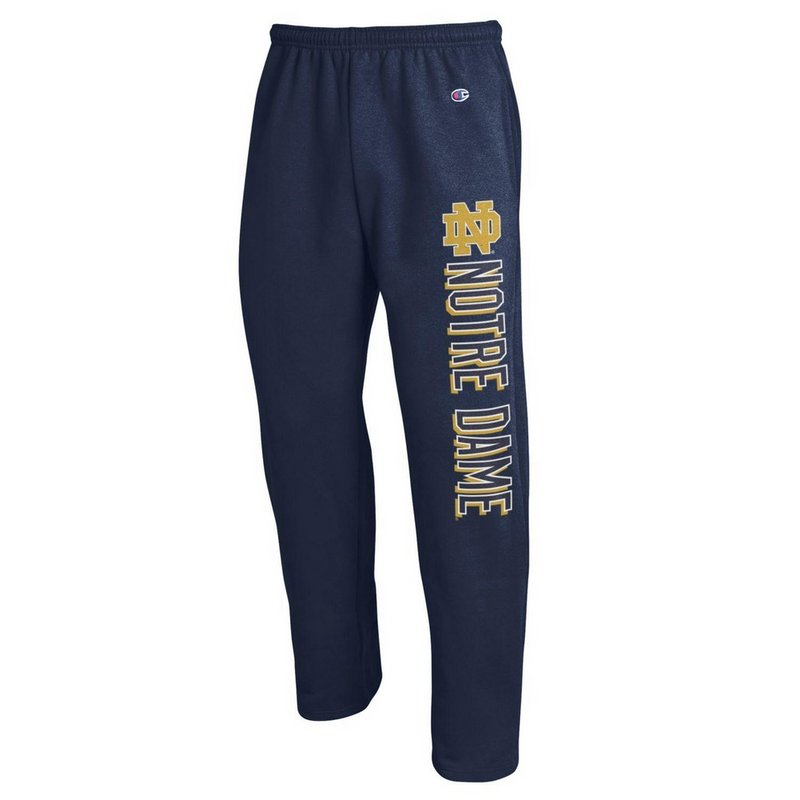 Notre Dame Fighting Irish Sweatpants Pockets Navy APC02792077