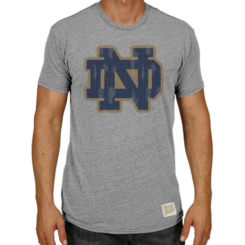 Notre Dame Fighting Irish Vintage TriBlend Tshirt Gray RB120-NOTA012A