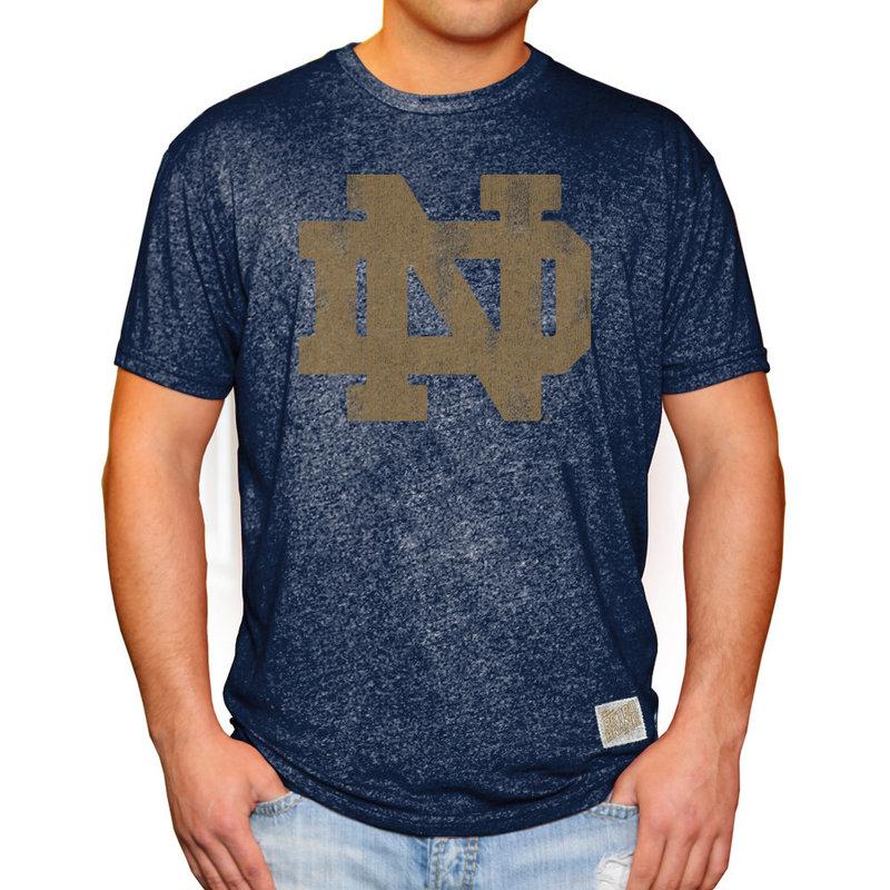 Notre Dame Fighting Irish Vintage Tshirt Navy