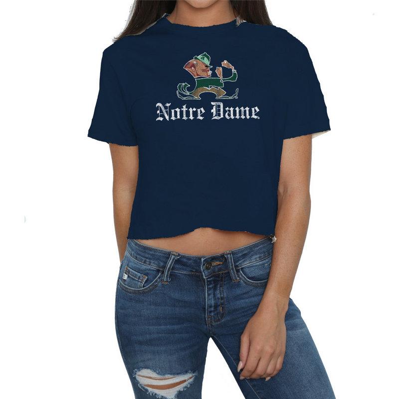 Notre Dame Fighting Irish Womens Crop TShirt