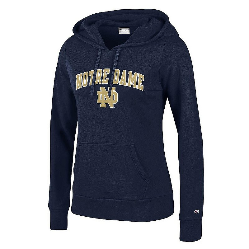 Notre Dame Fighting Irish Womens Hoodie Sweatshirt Arch Navy