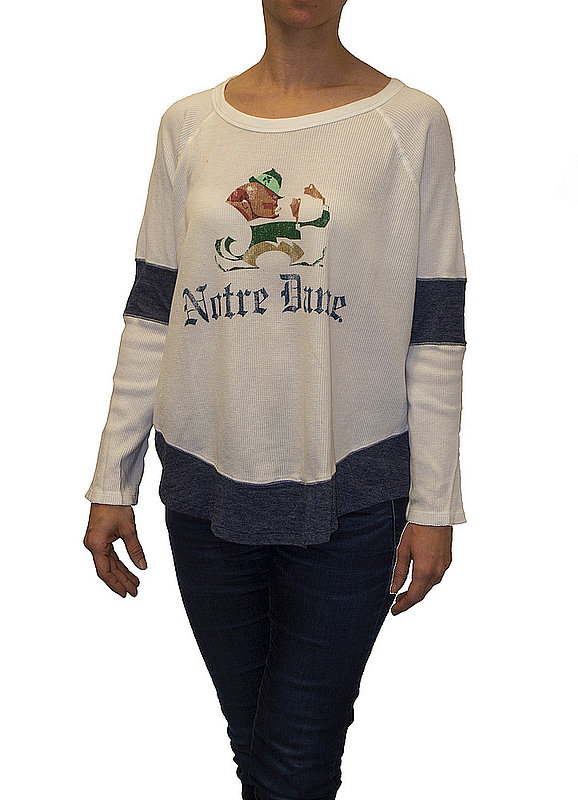 Notre Dame Fighting Irish Womens Thermal Long Sleeve Shirt CNOT183S_RB1906M_STN
