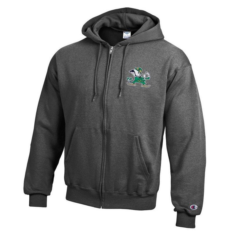 Notre Dame Fighting Irish Zip Up Hoodie Sweatshirt Captain Gray APC03197719