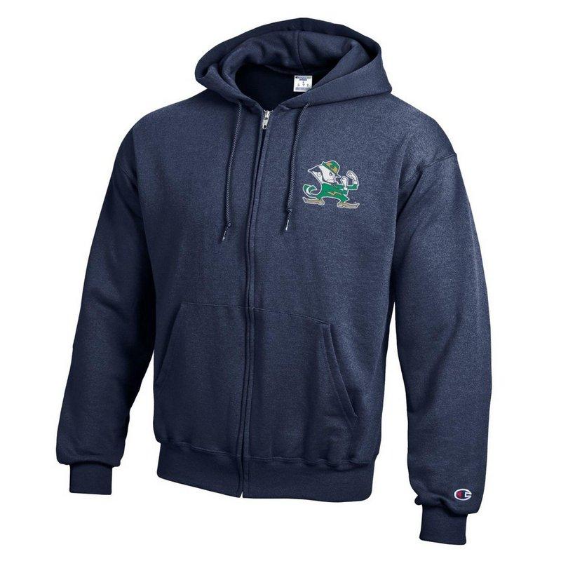 Notre Dame Fighting Irish Zip Up Hoodie Sweatshirt Captain Navy APC03201030