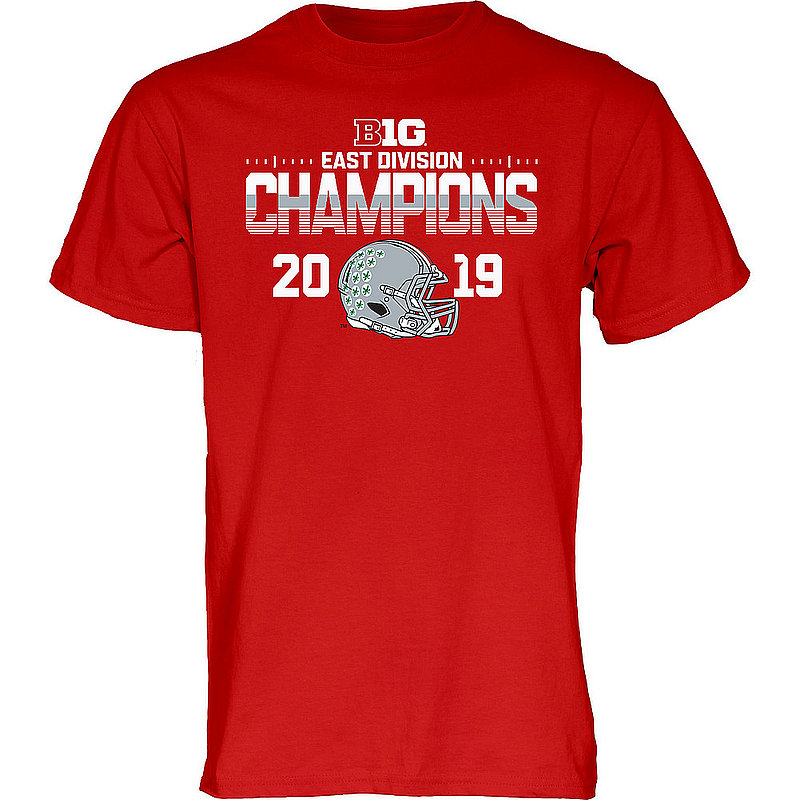Ohio State Buckeyes Big Ten Champs 2019 East Division TEBOW-B1019-FOOT-CHAMP_BJB3Z_OHS_TSGI_RED