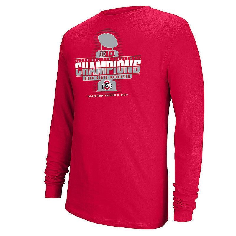 Ohio State Buckeyes Big Ten Champs Long Sleeve Tshirt 2019 Locker Room 12210_S12667M OHST TR