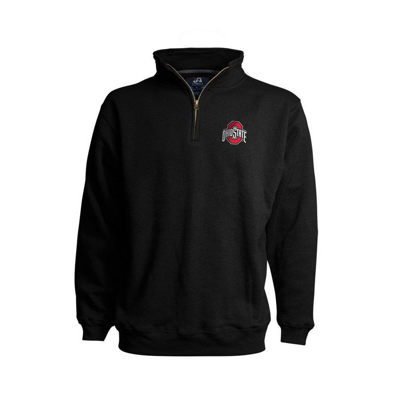 Ohio State Buckeyes Classic Quarter Zip Sweatshirt Black 394258