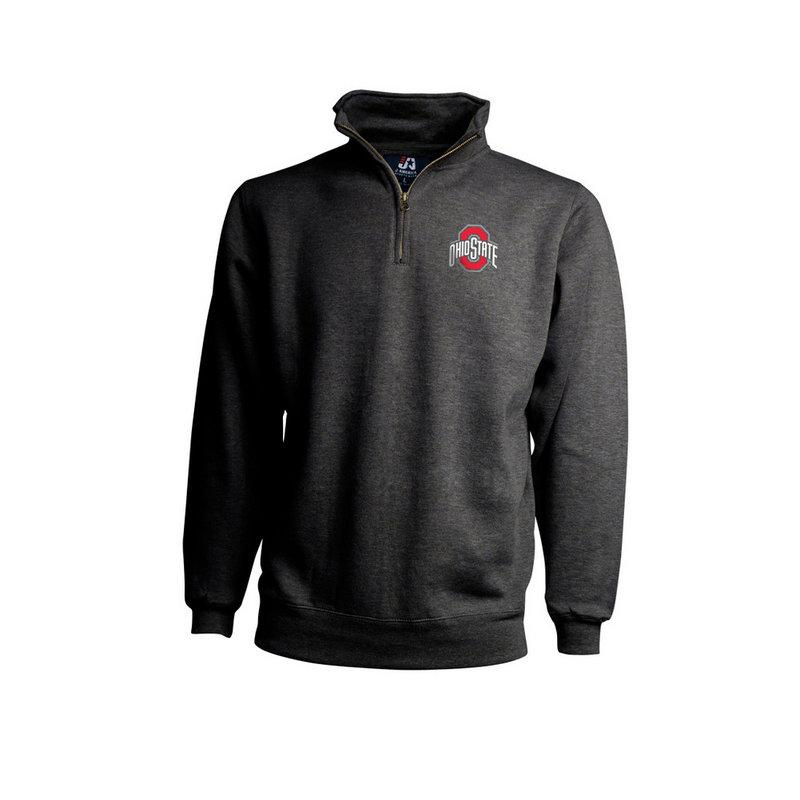 Ohio State Buckeyes Classic Quarter Zip Sweatshirt Charcoal 394258
