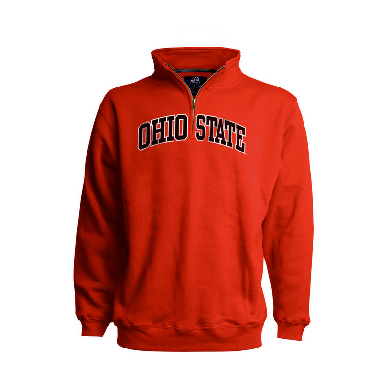 Elite Fan Shop Ohio State Buckeyes Classic Quarter Zip Sweatshirt Black