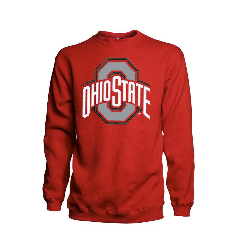 Ohio State Buckeyes Crew Neck Sweatshirts Mens Sweatshirts