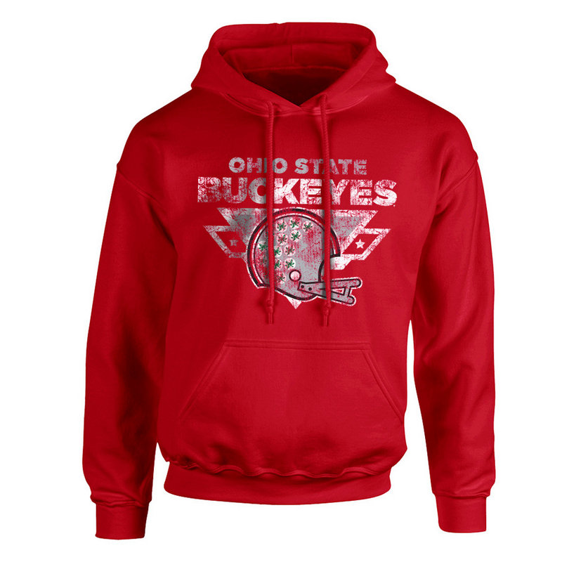 Ohio State Buckeyes Hoodie Sweatshirt Vintage Football Red