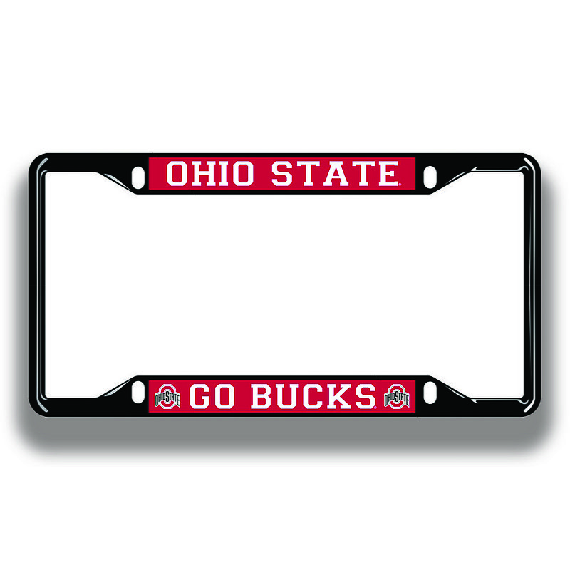 Ohio State Buckeyes License Plate Frame Black 48193