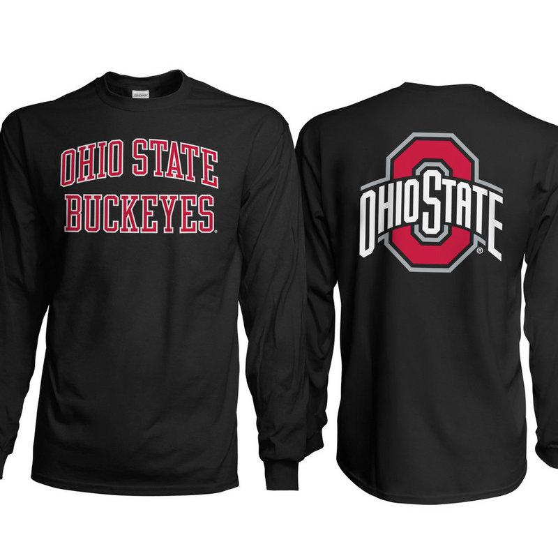 Ohio State Buckeyes Long Sleeve TShirt Back Black 461118