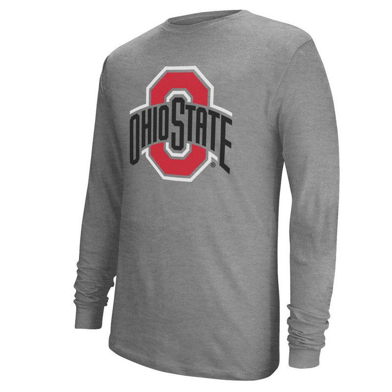 Ohio State Buckeyes Long Sleeve TShirt Gray Icon 410221/SP41000-10