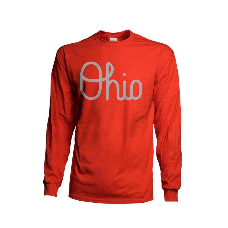 Ohio State Buckeyes Long Sleeve TShirt Red 461116