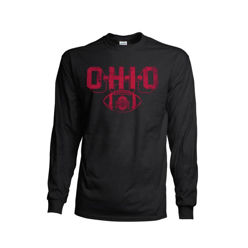 Ohio State Buckeyes Long Sleeve TShirt Vintage Football Black 348181