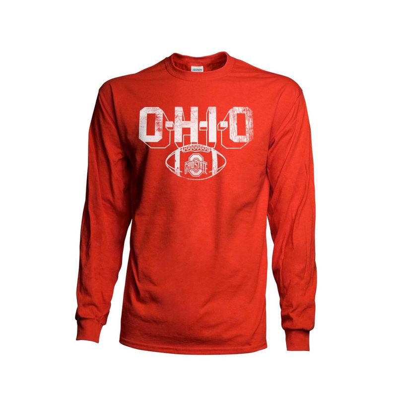 Ohio State Buckeyes Long Sleeve TShirt Vintage Football Red