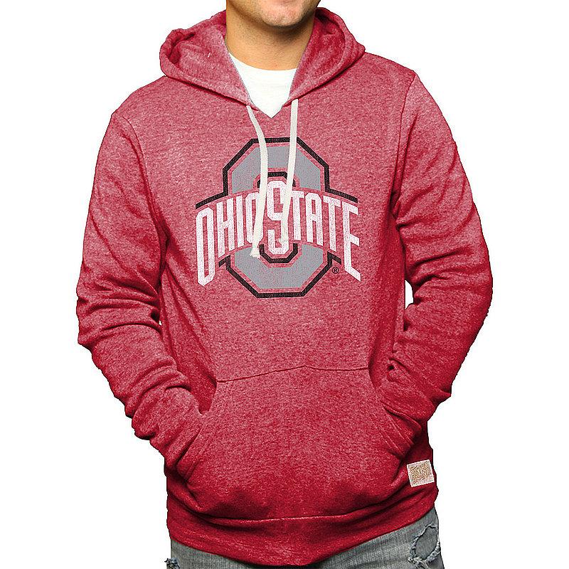 Ohio State Buckeyes Retro Hooded Sweatshirt Scarlet