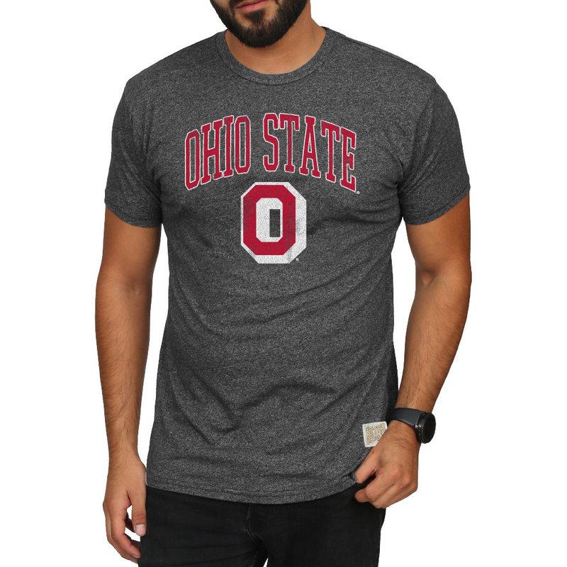 Ohio State Buckeyes Retro Tshirt Charcoal
