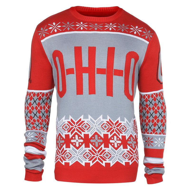Ohio State Buckeyes Slogan Ugly Christmas Sweater