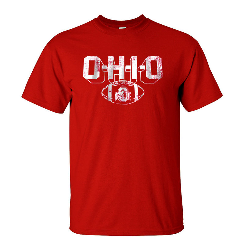 Ohio State Buckeyes T-Shirt Vintage Football Red 348181