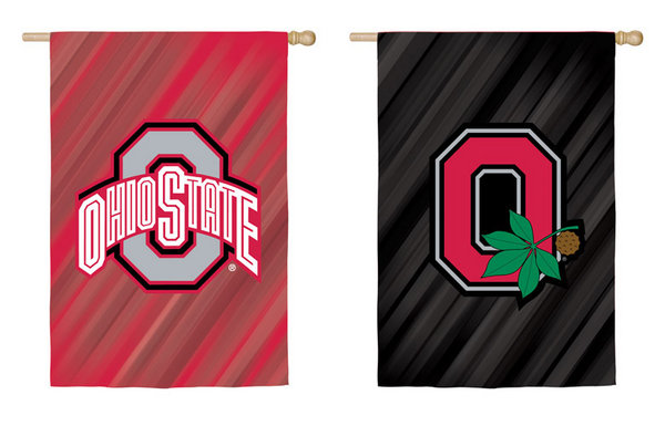 Ohio State Suede Double Sided Flag 44x28