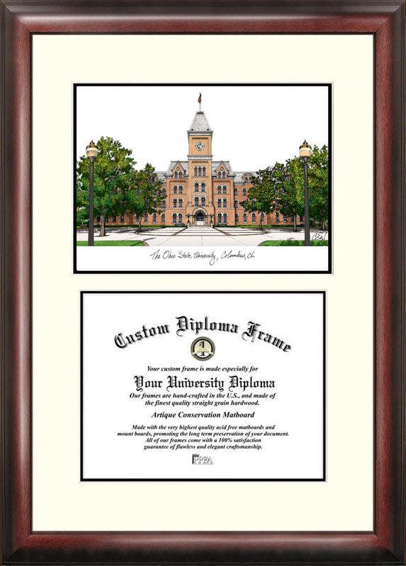 Ohio State University Buckeyes Scholar Diploma Frame DSCI-oh987v