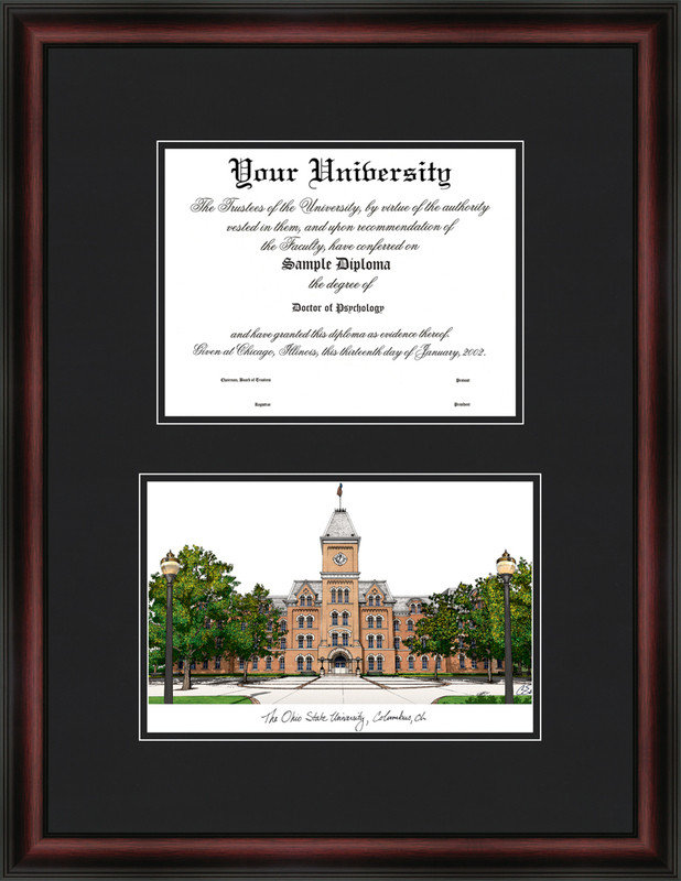 Ohio State University Diplomate Diploma Frame DSCI-oh987d