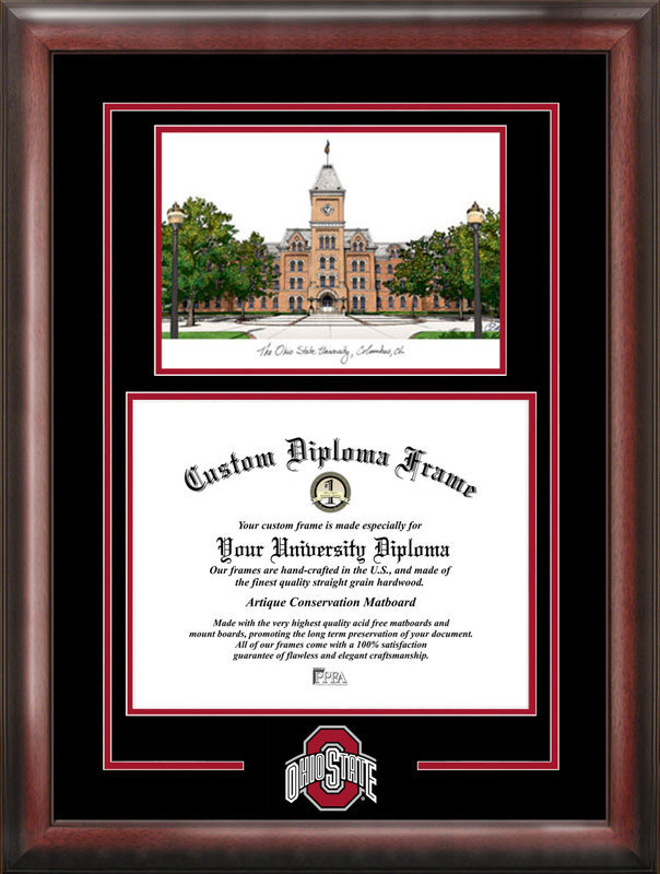 Ohio State University Spirit Graduate Frame With Lithograph DSCI-oh987sg