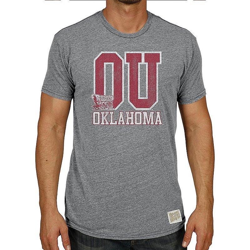 Oklahoma Sooners Big & Tall Tshirt Gray Vintage 1XB to 5XB and XLT to 5XLT OKLO19S6AX_RB120M_STG
