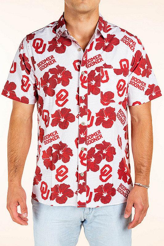 Oklahoma Sooners Hawaiian Shirt Floral MPL-SRWQ219-LS1602