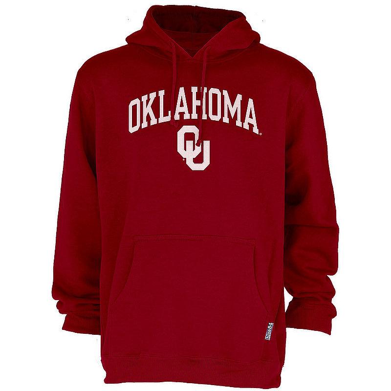 Oklahoma Sooners Hooded Sweatshirt Arch Over Plus Size 2X 3X 4X 5X Crimson