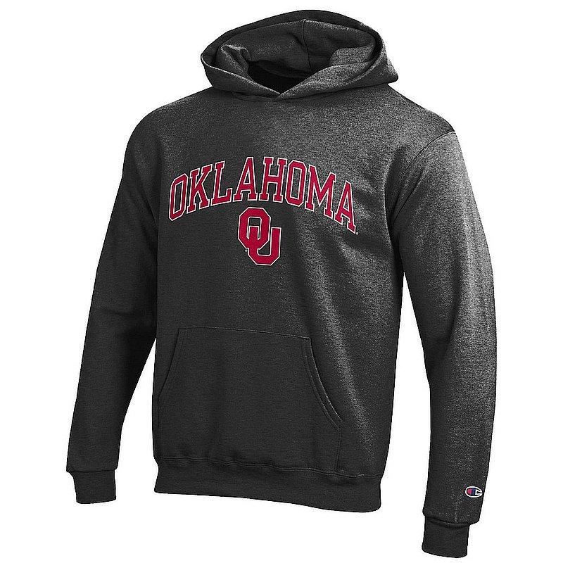 Oklahoma Sooners Kids Hoodie Sweatshirt Charcoal APC03009020