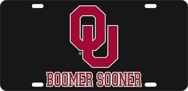 Oklahoma Sooners License Plate Black 17809