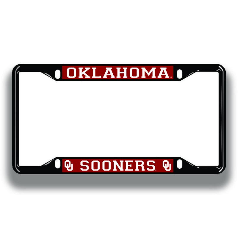 Oklahoma Sooners License Plate Frame Black 17806