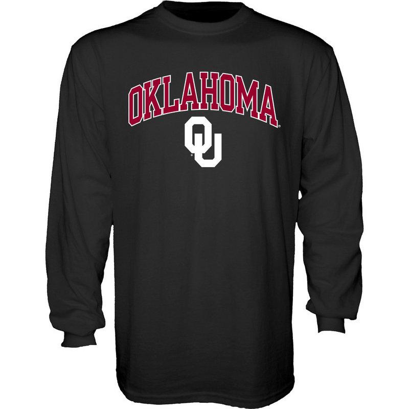 Oklahoma Sooners Long Sleeve Tshirt Arch Black P-PG3678OKU