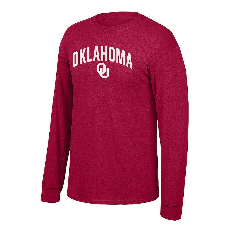 Oklahoma Sooners Long Sleeve Tshirt Arch Over Plus Size 2X 3X 4X 5X Crimson