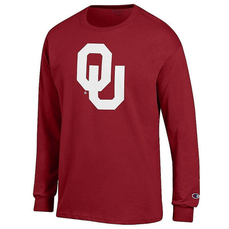 Oklahoma Sooners Long Sleeve Tshirt Icon Crimson APC03004805*